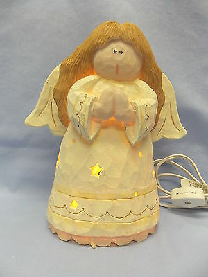 Crazy Mountain Little Girl Angel Electric clip Cord & Bulb 7 1/2 IN Poly/Resin