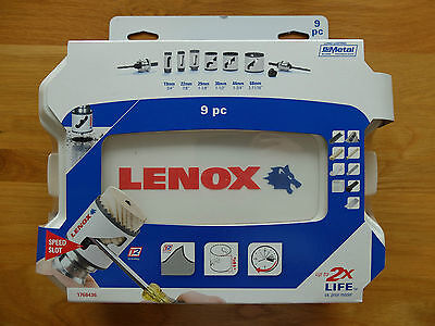 Lenox 9Pce Speed Slot Plumbers Hole Saws Kit