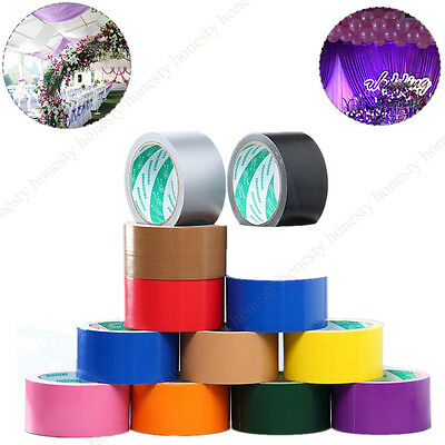 15 Type Colorful waterproof cloth Carpet Pasting Pipe bundle Duct Tape Sticker