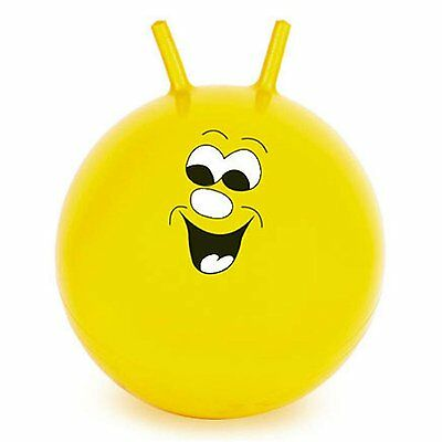 "60cm/24"" Children/Adult Space Hopper Jump & Bounce Indoor/Outdoor Toy In Yellow"