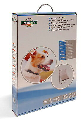 Staywell Petsafe Aluminium 640 Large Dog Door Flap - White