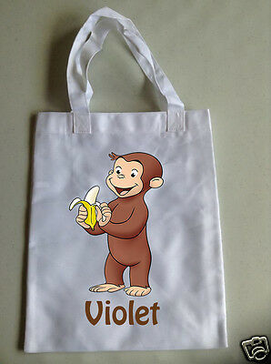 Personalised Children's Tote Bag - 35 x 30cm - Curious George