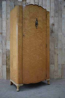 "Retro Vintage Art Deco French Style ""Lebus"" Wardrobe"