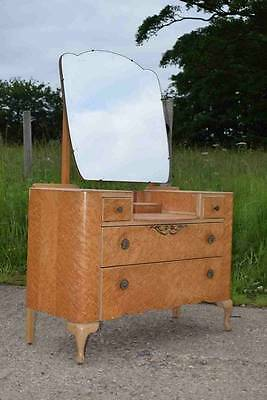 "Retro Vintage Art Deco French Style ""Lebus"" Dressing Table With Mirror"