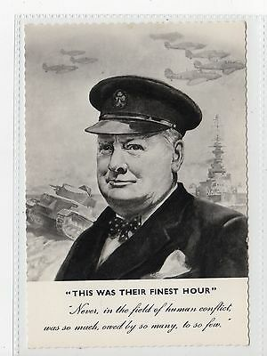 """THIS WAS THEIR FINEST HOUR"": Winston Churchill postcard (C19496)"