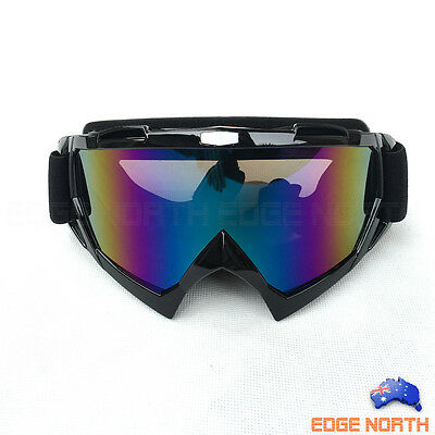 GOGGLES BLACK Snow Snowmobile Snowboard SKI UV Adults Sports Windproof Anti Fog