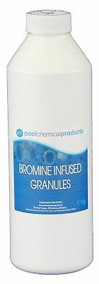 1kg Bromine Infused Granules Swimming pool Spa Hot Tub