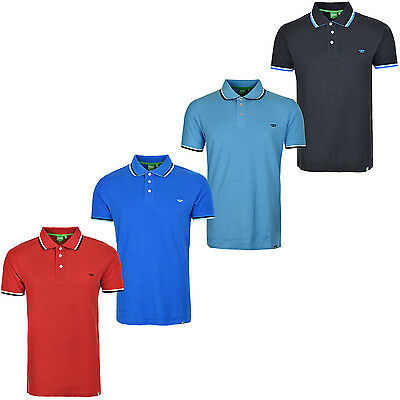 Mens Polo Shirt Short Sleeves With Contrast Tipping & Chest Embroidery Logo Race