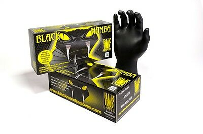Black Mamba Industrial Super Strength Nitrile Gloves Large Box of 100 50 Pairs