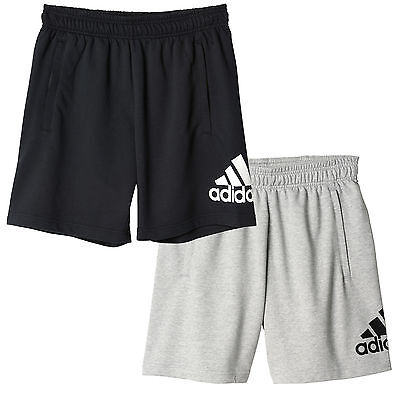 adidas Essential Logo Mens Training Fitness French Terry Short
