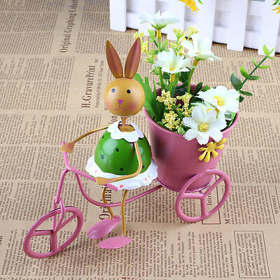 Tricycle Bicycle Flower Pot Planter Storage Container Metal Basket Iron