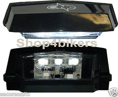 Motorcycle scooter custom LED SMD  number plate light compact black tail light