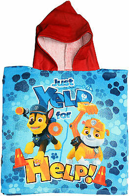 Paw Patrol Just Yelp For Help Childrens Poncho By BestTrend
