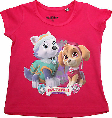 Paw Patrol Girls Pink Short Sleeve T-Shirt Sky By BestTrend