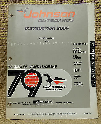Johnson Seahorse Outboard Service Repair Manual 1979 2 HP 2R79