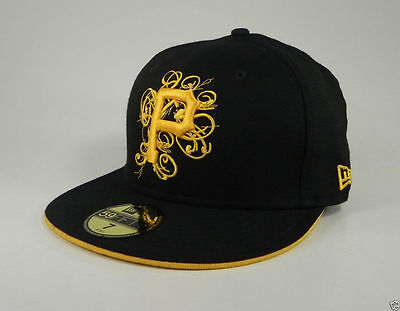 New Era 59Fifty MLB Hat Pittsburgh Pirates Scratch Black Gold Yellow Fitted Cap