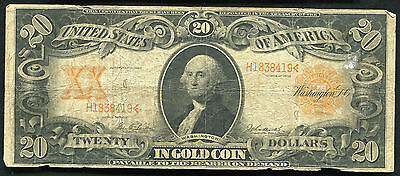 Fr. 1185 1906 $20 Twenty Dollars Gold Certificate Currency Note