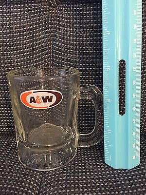 """A&w Miniature Mug Root Beer Stein 3"""" Tall Vintage Drinking Glass Cup"""