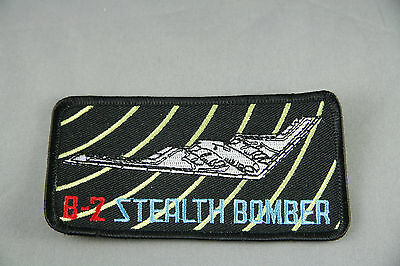 B-2 Stealth Bomber Badge Sew On Patch 4 x 2 Unused Black Fighter Plane Flight