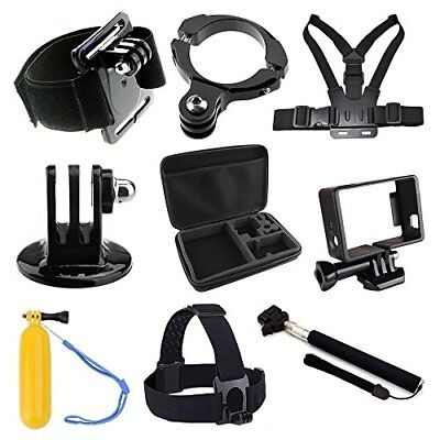 Phot-R Accessories Chest Head Wrist Strap Monopod Handle Case Kit for GoPro 4 3+