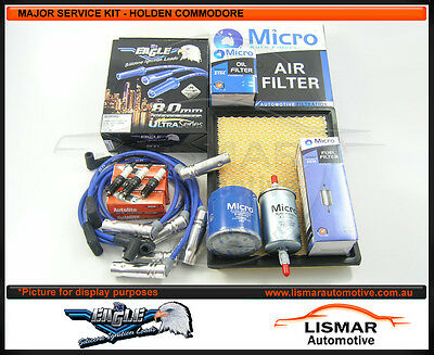 Major Service Kit for Holden Commodore V6 3.8Ltr VT, VX, VU, VY with Heatsheilds