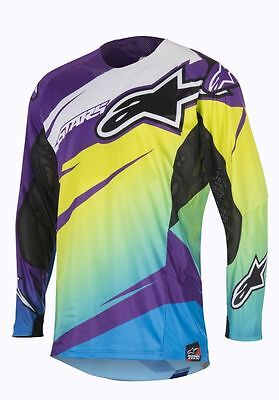 Alpinestars NEW Mx Gear Techstar Venom Lime Cyan Navy Motocross Jersey