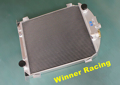 "56mm 2x1"" aluminum radiator for Ford model A w/Chevy 350 V8 engine A/T 1928-29"