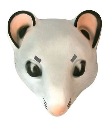 Adults Mens Womens PVC Mouse Face Mask Fancy Dress Masquerade