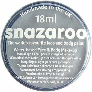 Snazaroo Water Based Face Paint Make Up 18ml Light Grey Silver