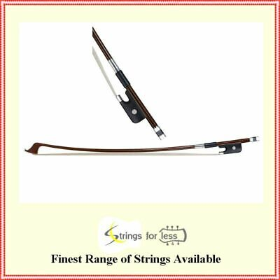 Reichel  3/4 Size Round Stick Pernambuco Double Bass Bow French Style Full Mount