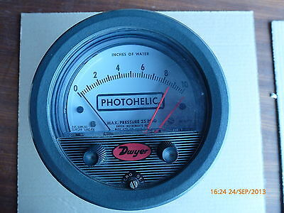 Dwyer PhotoHelix Series 3000 Pressure Switch Max Pressure 25 PSIG HH-117VAC New