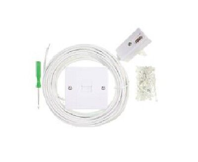 10m Telephone Phone Splitter Cable Extension Kit for BT Virgin Sky - 1 Socket 2