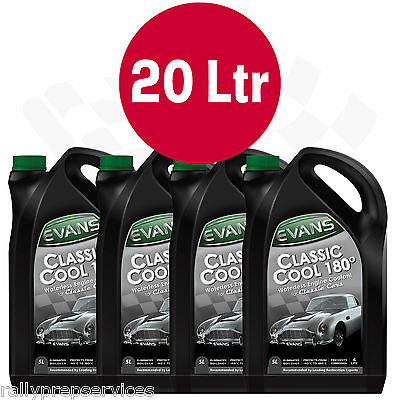20 Litres Evans Waterless Engine Coolant Classic Cool 180° Race Rally Off Road