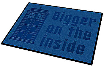 """Doctor Who TARDIS """"Bigger on the Inside"""" Welcome Mat, New!"""