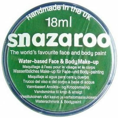 Snazaroo Water Based Face Paint Make Up 18ml Bright Green