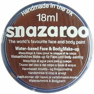 Snazaroo Water Based Face Paint Make Up 18ml Light Brown
