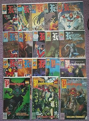 Marvel Uk The Knights Of Pendragon #1 2 3 4 5 6 7 8 9 10-18 Complete Mini Series