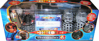 """5"""" Doctor Who 4th Dr Destiny of the Daleks 4 Action Figures, Autograph"""