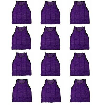 Workoutz Adult Scrimmage Vests (12 Qty, Purple ) Soccer Pinnies Football