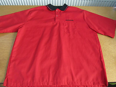 Workshop/technical Mechanics Short Sleeve Shirt Labelled Honda Extra Large Red