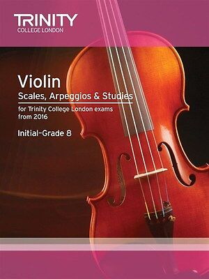 Trinity College Violin Scales & Exercises from 2016 - Same Day P+P