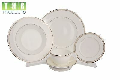 12 - China Display Stands for 4-5 Dinnerware Pieces Place Setting Full View #906