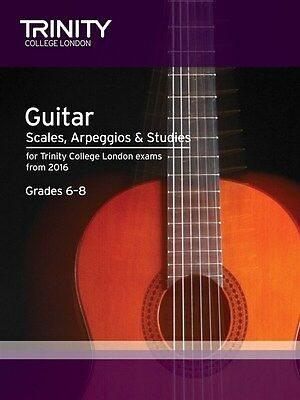 Trinity College Guitar Scales & Exercises Grade 6-8 from 2016 - Same Day P+P