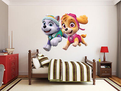 410 NEW  Paw Patrol Pink  Decal VINYL WALL ART STICKER  Kids Boys Girl Bedroom