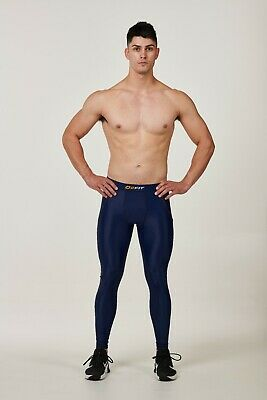 Mens Navy Compression Tights New Pants Sports Gym Run Base Workout Layers Rugby