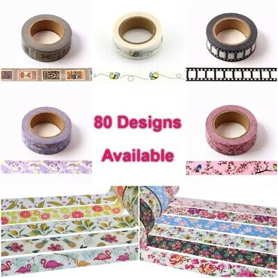 Premium Washi Tape Rolls Decorative Sticky Paper Masking Adhesive Planner Tape