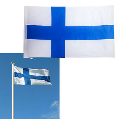 90x150cm National Sports Olympics Celebration Flags Finland Flag Finnish