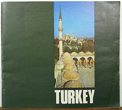 1977 Turkey travel tourist informational guide booklet map b