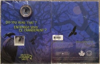 2015 Haunted Brakeman Canada Lenticular 25 Cent Coin & Stamp Gift Set