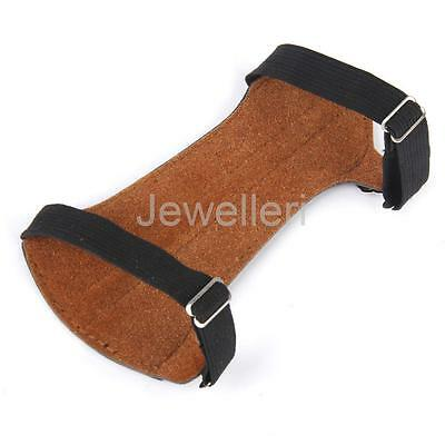Artifical Leather Archery Shooting Hunting Strap Arm Guard Protective Gear